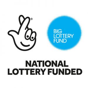 "Big Lottery Fund Logo - smiling crossed fingers and ""Big Lottery Fund National Lottery Funded"" text"