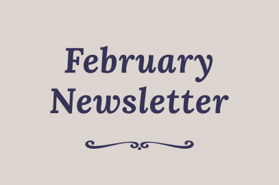"Text saying ""February Newsletter"""