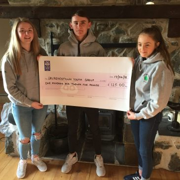 LLTCA Youth Steering Group Cheque Presentation